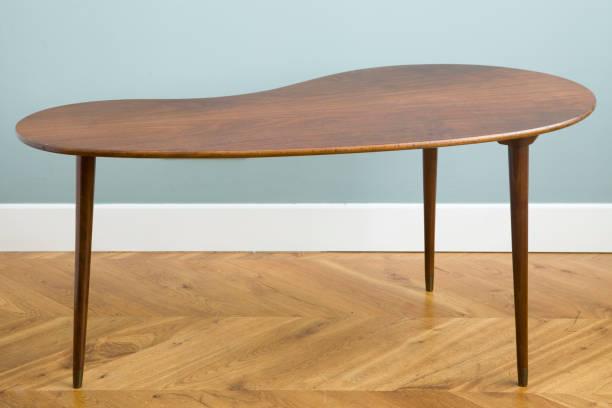 coffe table, wooden table - coffee table imagens e fotografias de stock