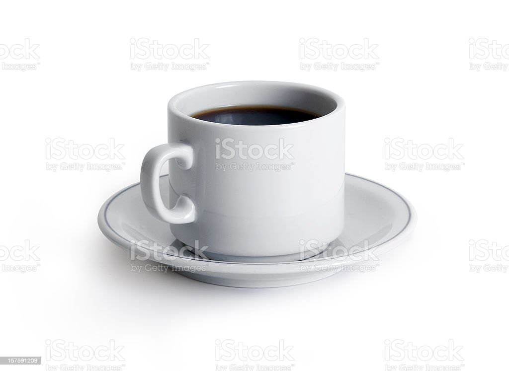Coffe with Clipping Path royalty-free stock photo