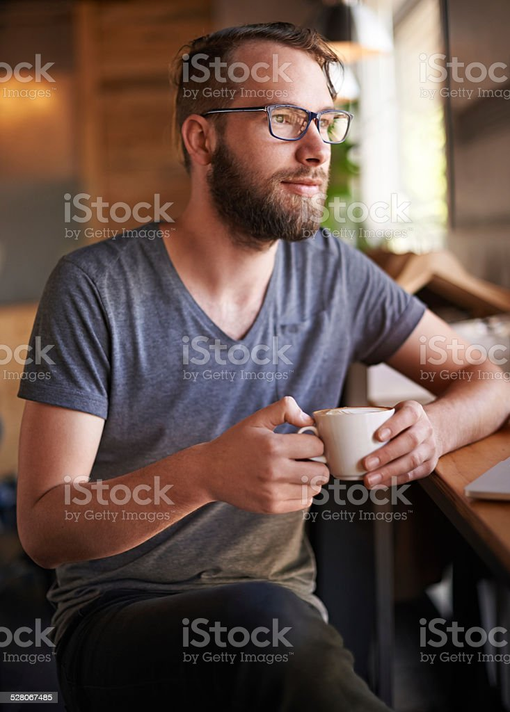 Coffee always understands stock photo