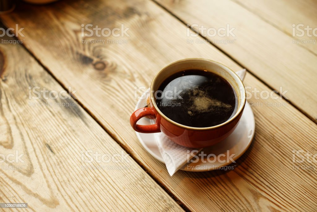 Coffee Americano, it made from espresso and hot water, UK stock photo