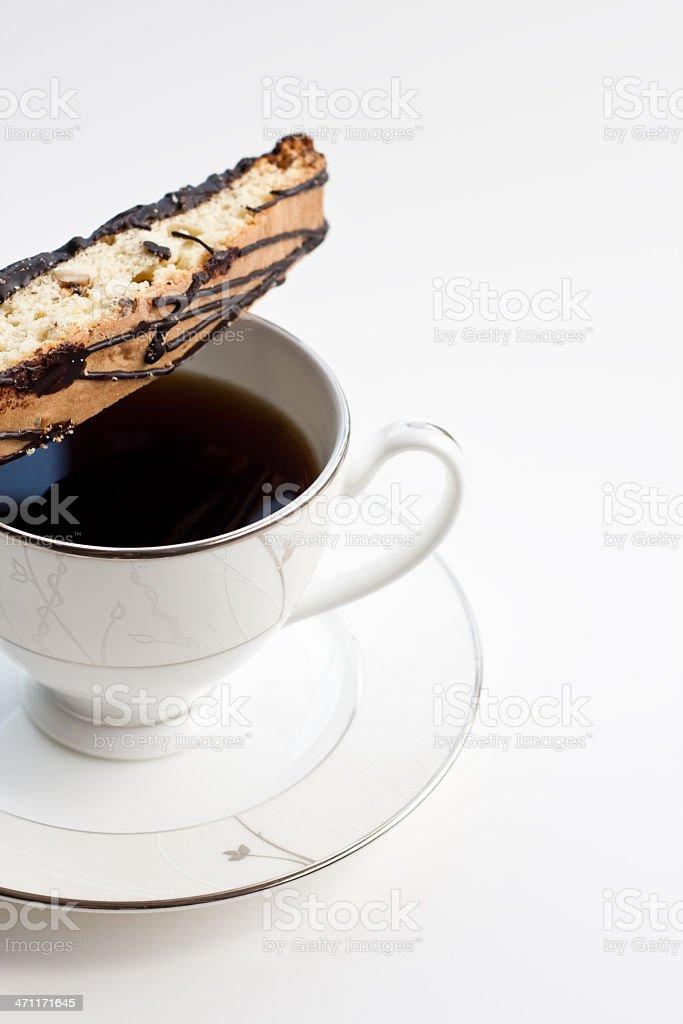 Coffee & Biscotti royalty-free stock photo