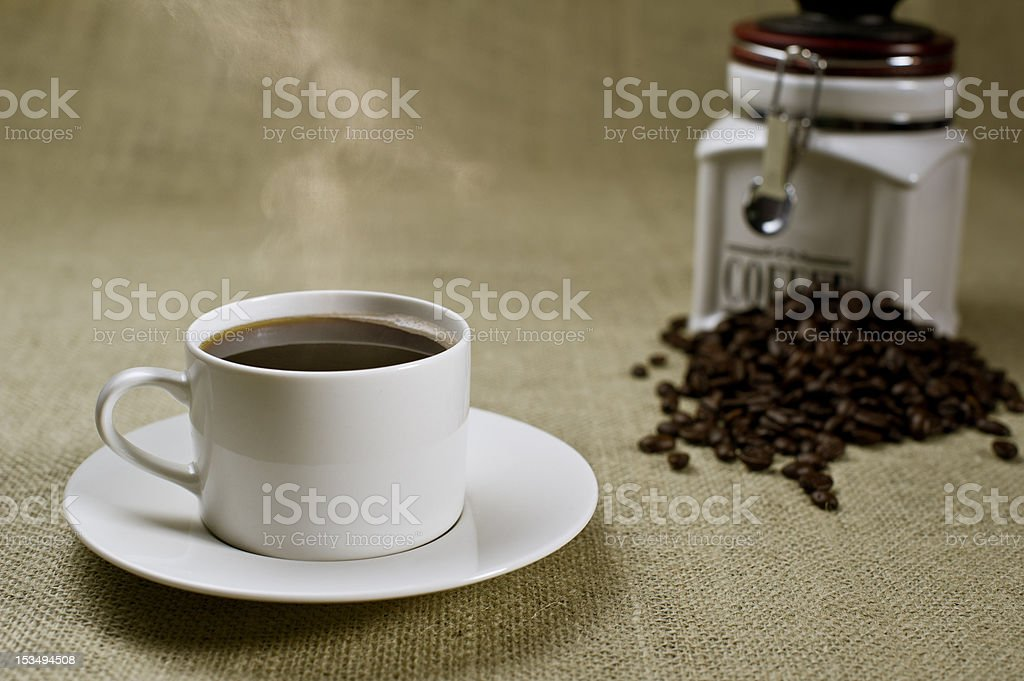 Coffee and beans royalty-free stock photo