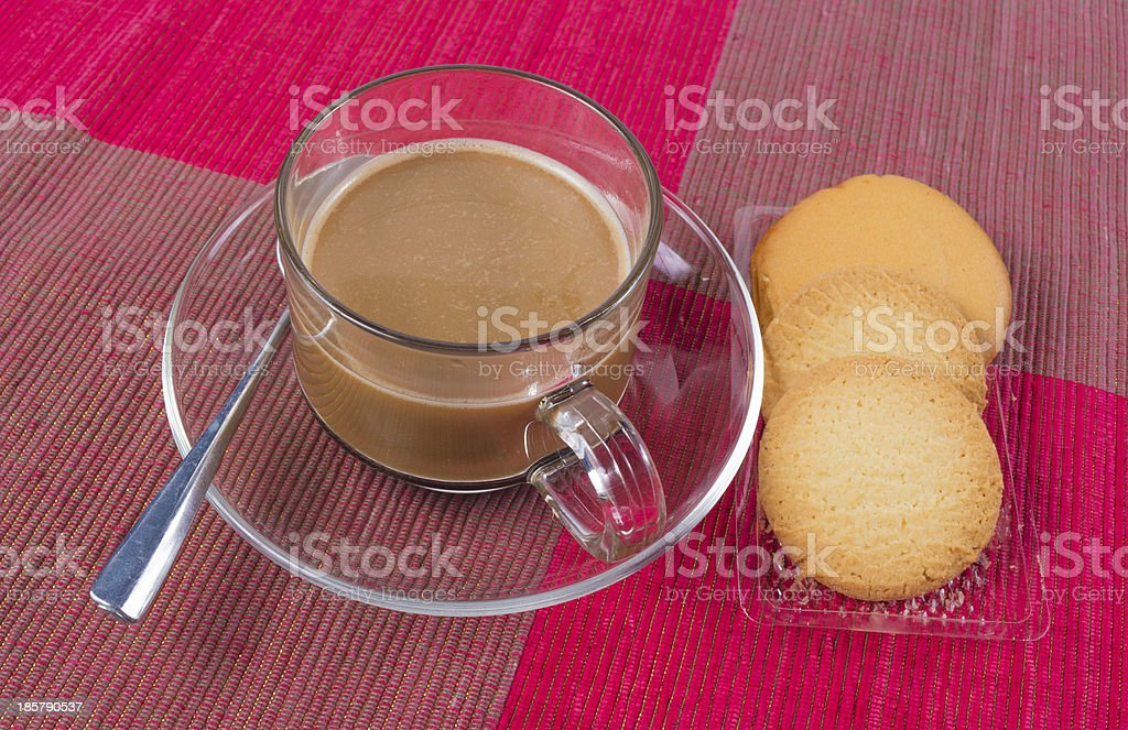 coffee and biscuits royalty-free stock photo