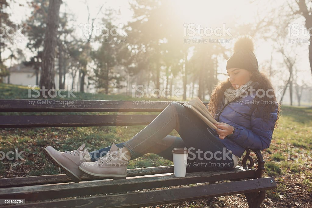 Coffee And Book To Go stock photo