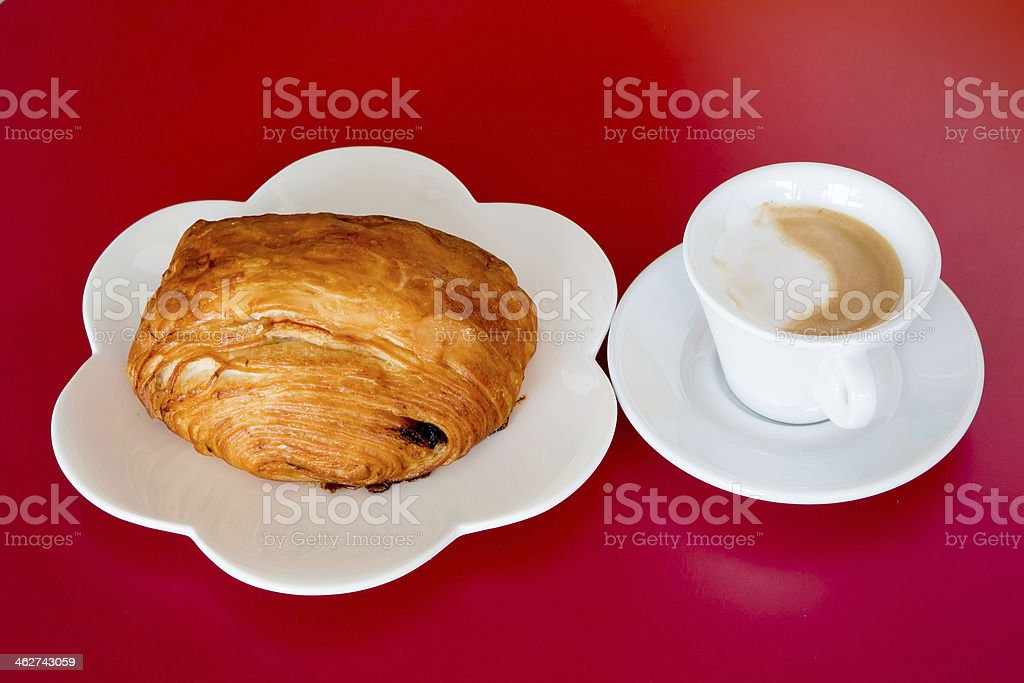 coffee and bread royalty-free stock photo