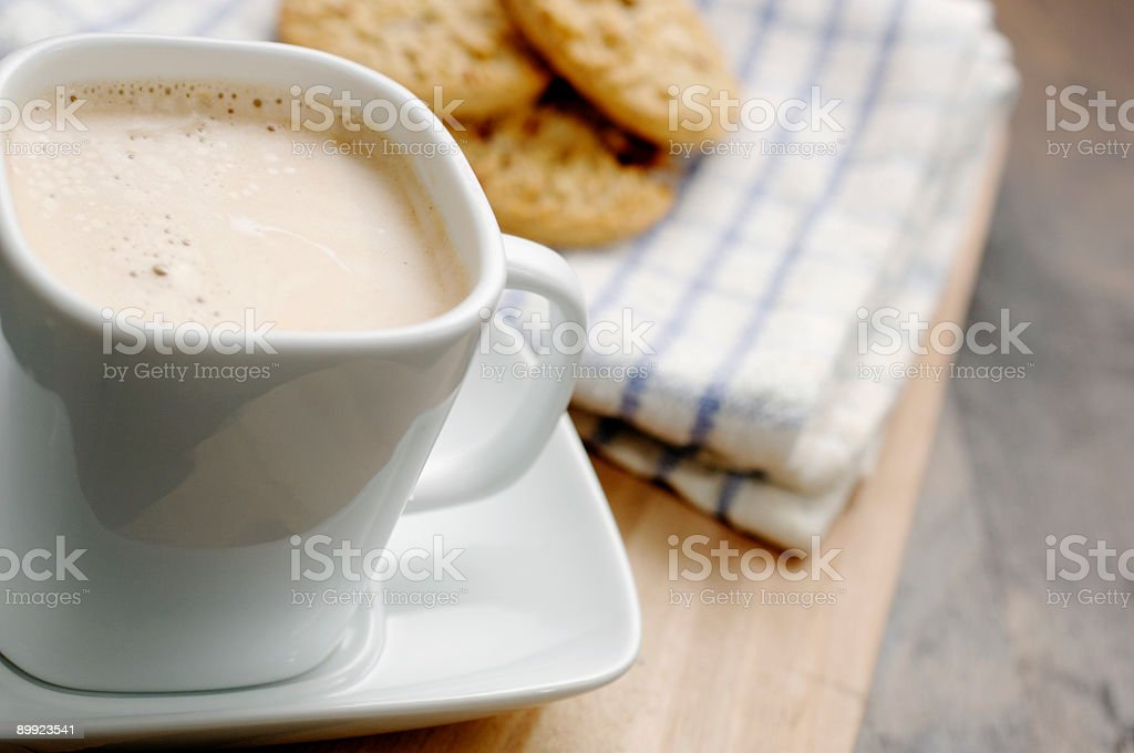 coffee and buscuits royalty-free stock photo
