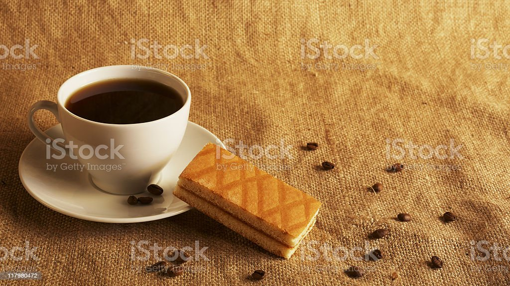 coffee and cake royalty-free stock photo