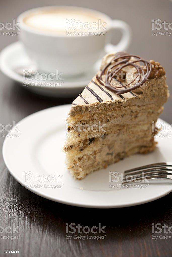 Coffee and Cake stock photo