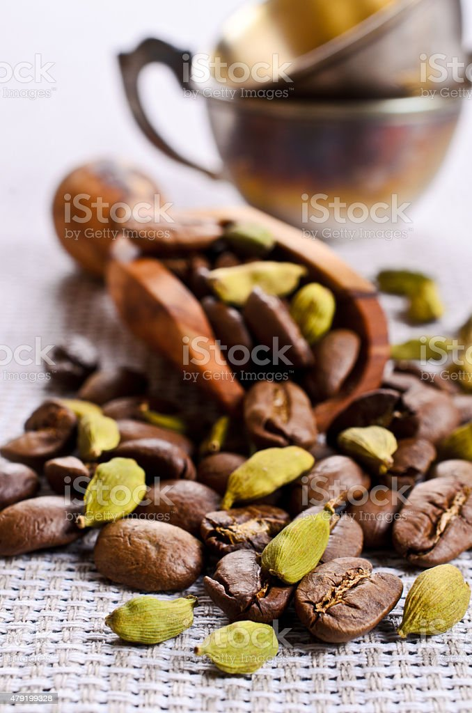 Coffee and cardamom stock photo