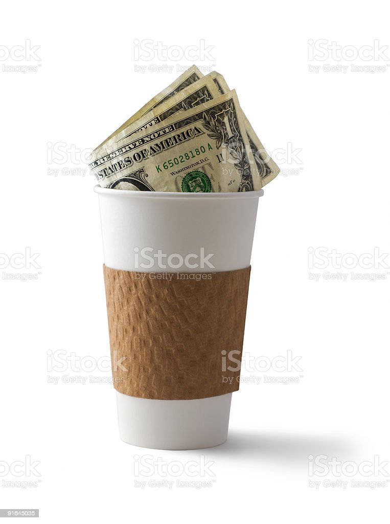 Coffee and Cash royalty-free stock photo