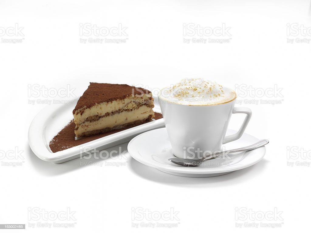 Coffee and cheese cake royalty-free stock photo
