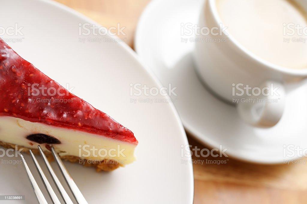 coffee and cheesecake stock photo