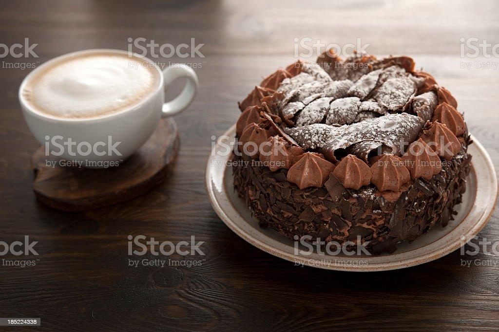 Coffee and Chocolate Cake stock photo
