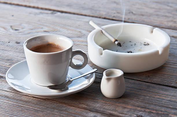 coffee and cigarette - coffe with death bildbanksfoton och bilder