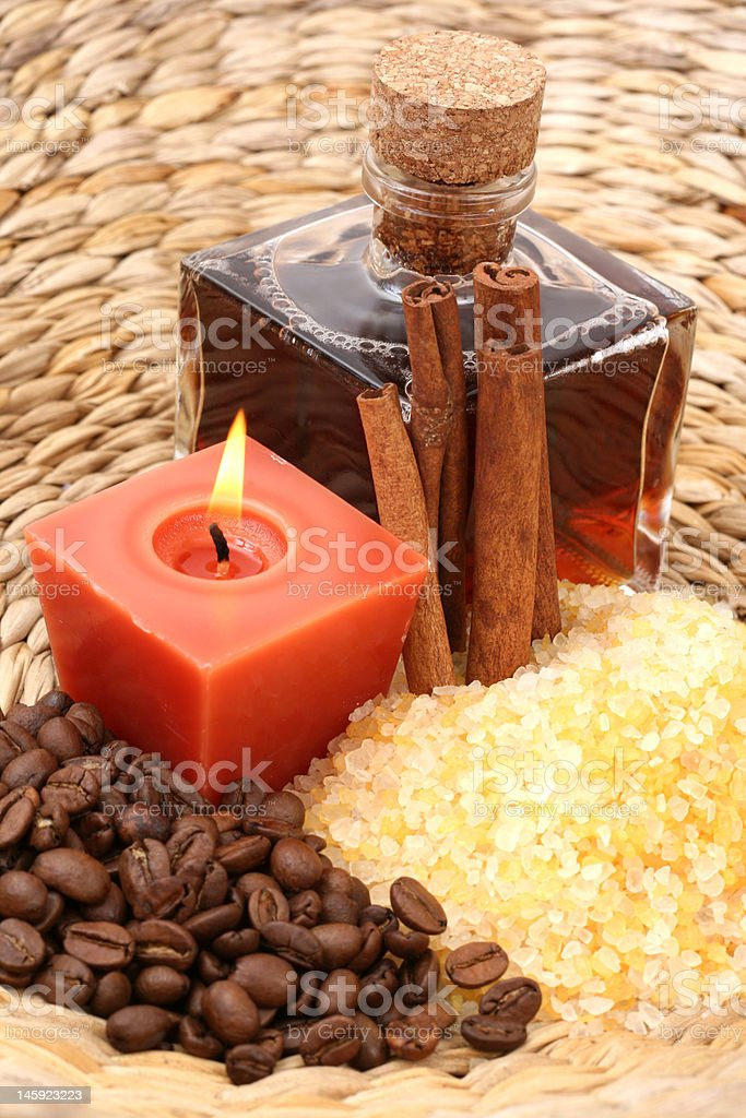 coffee and cinnamon bath royalty-free stock photo