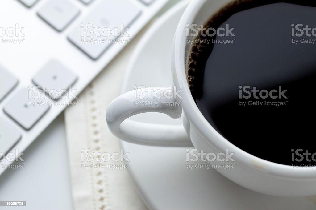 Coffee and Computing royalty-free stock photo