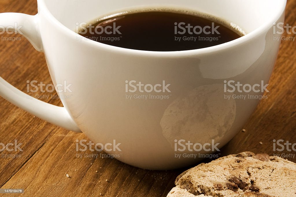 Coffee and Cookie Close Up royalty-free stock photo