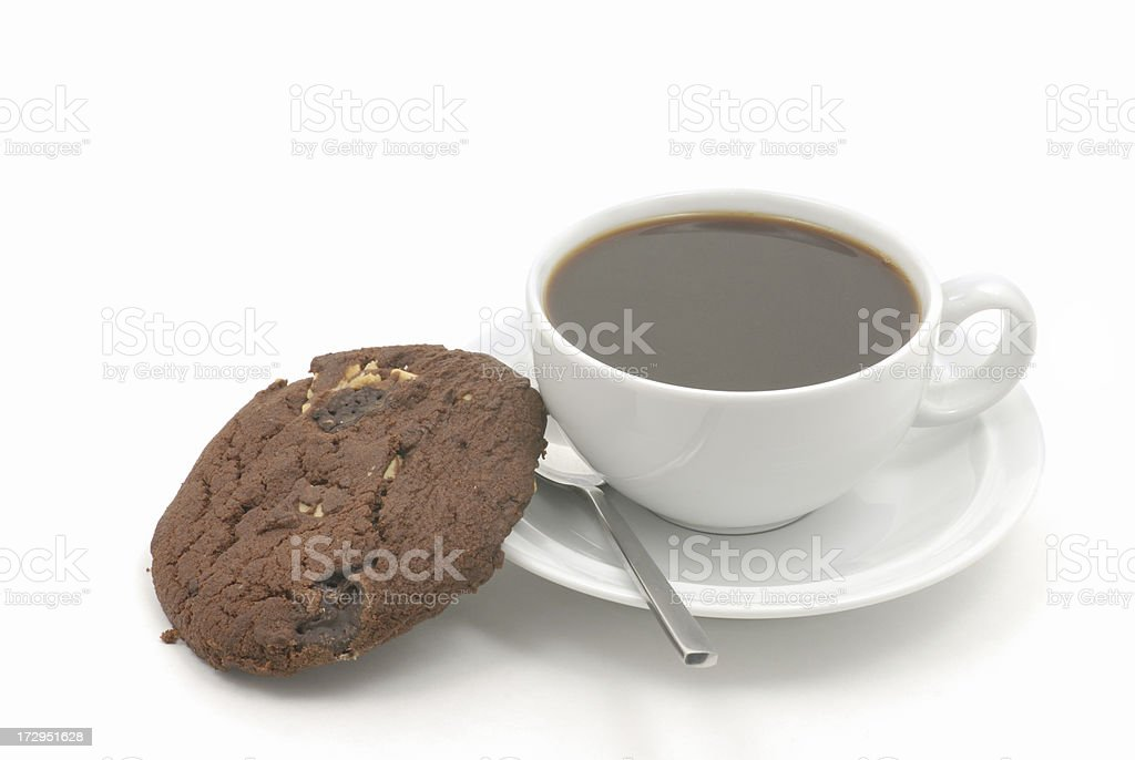 coffee and cookie stock photo