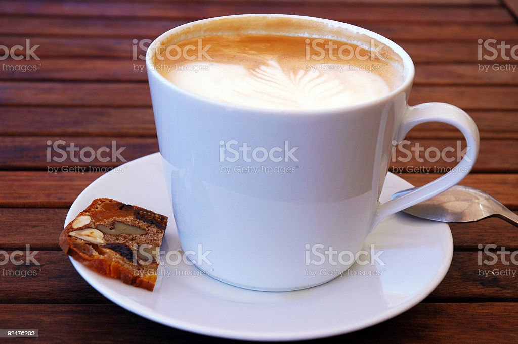 Coffee and cookie royalty-free stock photo