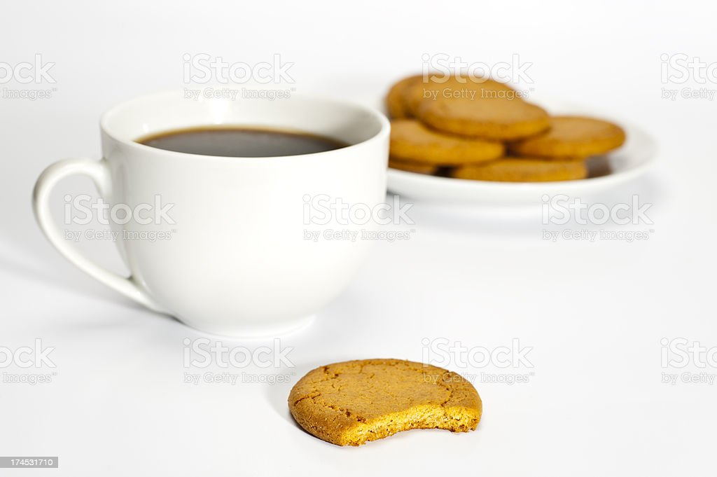 Coffee and cookies stock photo