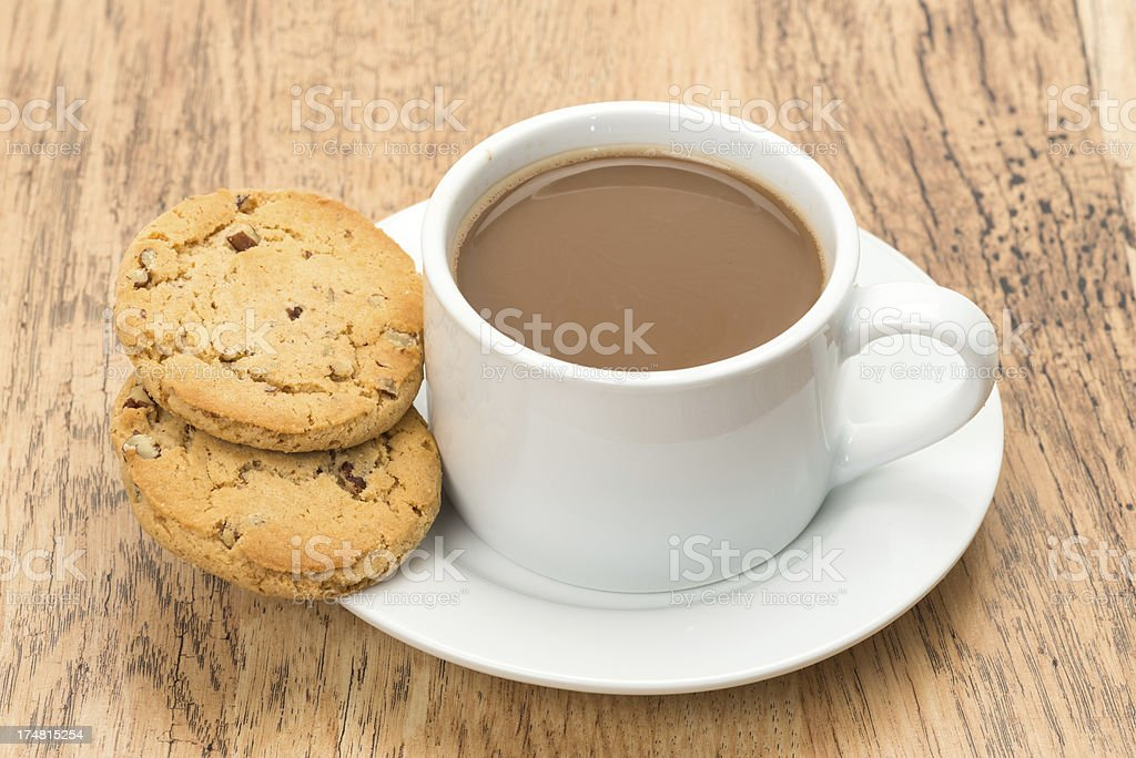 Coffee and cookies royalty-free stock photo