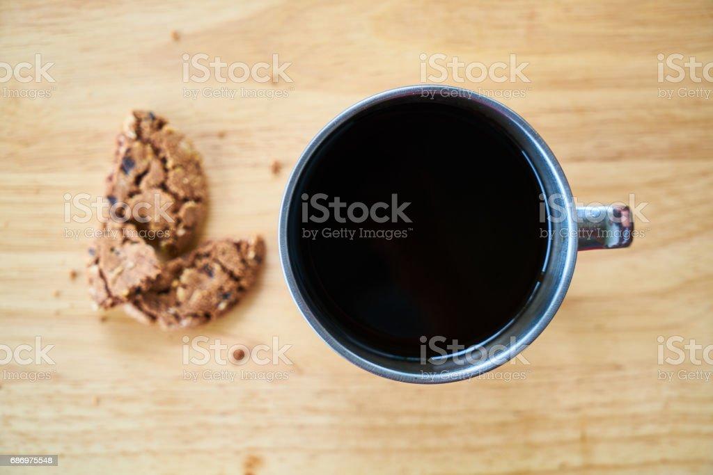 Kaffee und Cookies Lizenzfreies stock-foto