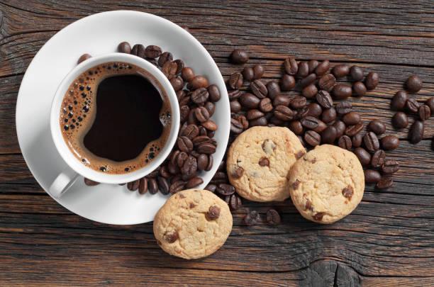 巧克力咖啡和餅乾 - 咖啡 飲品 個照片及圖片檔