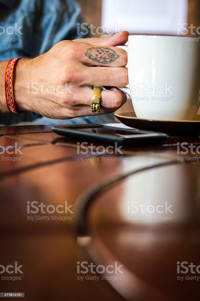 Coffee and Cowboy stock photo