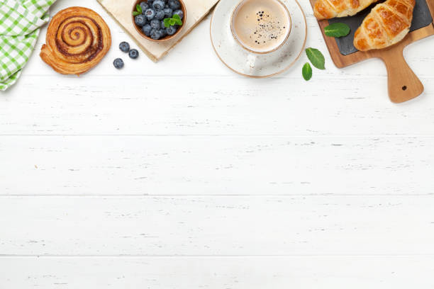 Kaffee und Croissants Frühstück – Foto