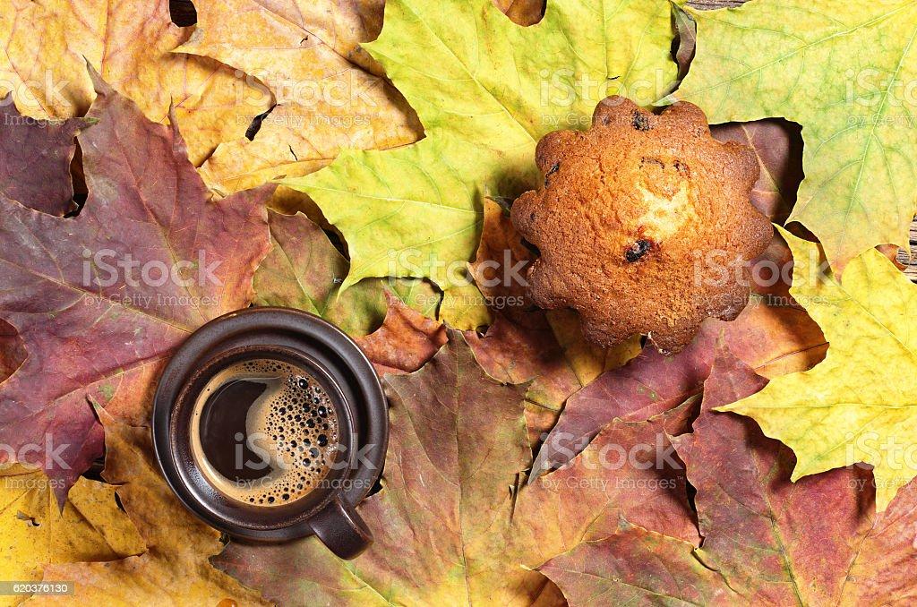 Kawa i cupcake zbiór zdjęć royalty-free