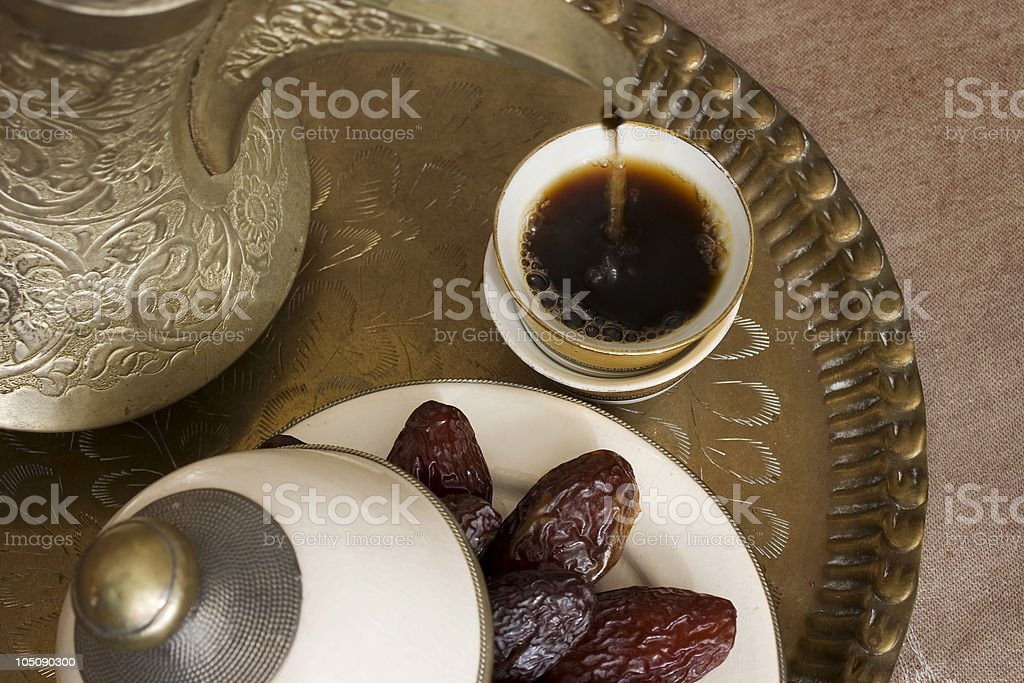 coffee and dates royalty-free stock photo
