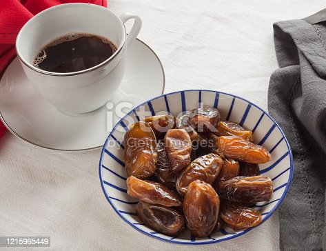 1215965415 istock photo Coffee and dates 1215965449