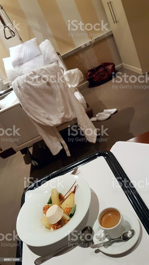 Coffee and Dessert in the Hospital stock photo