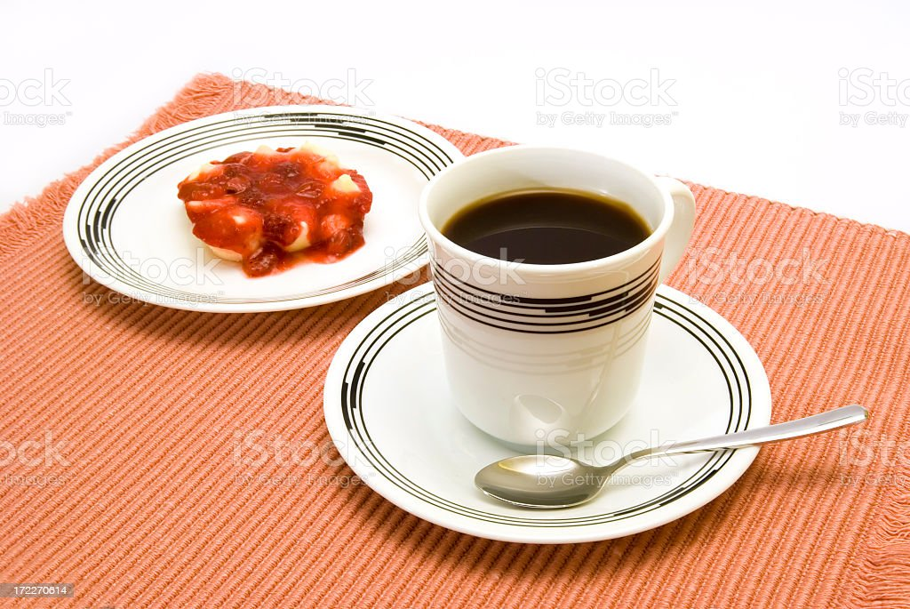 Coffee and Dessert royalty-free stock photo