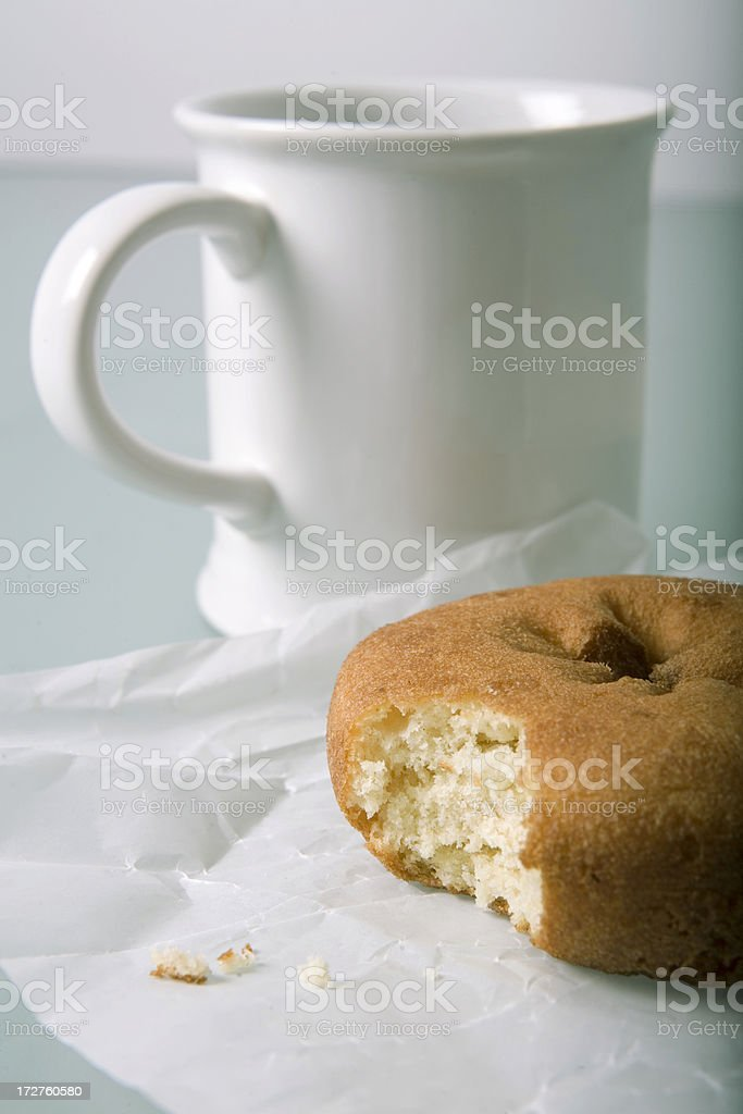 coffee and donut royalty-free stock photo
