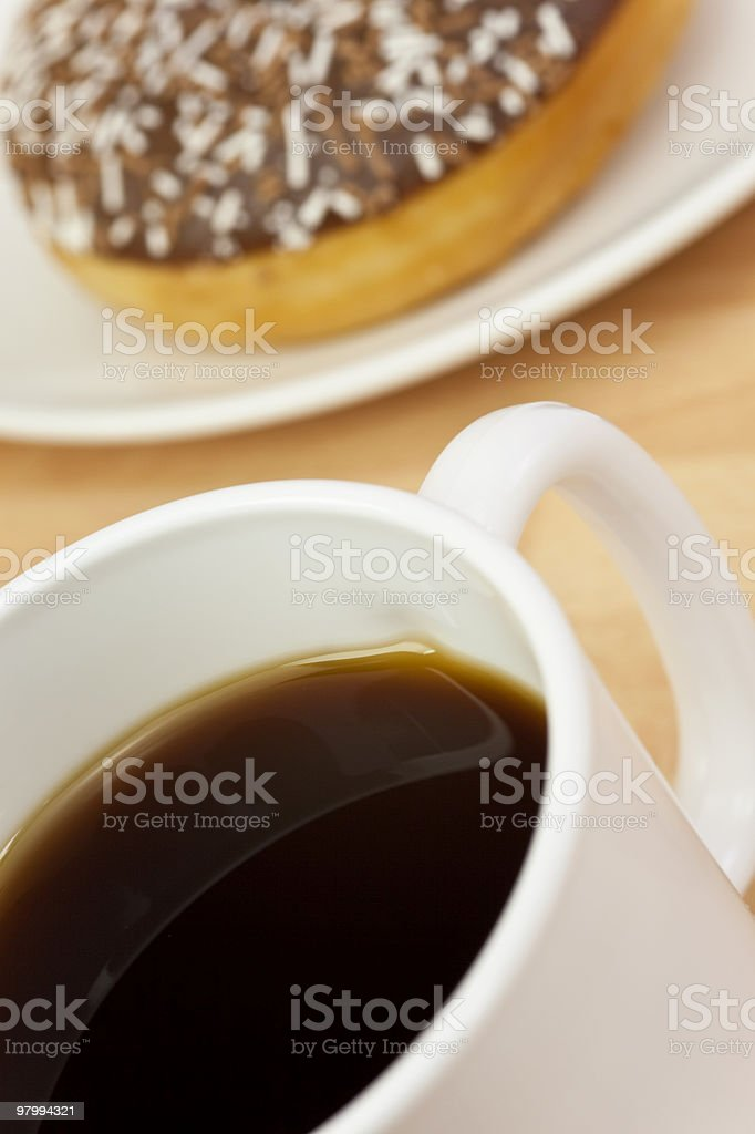 Coffee and Doughnut royalty-free stock photo
