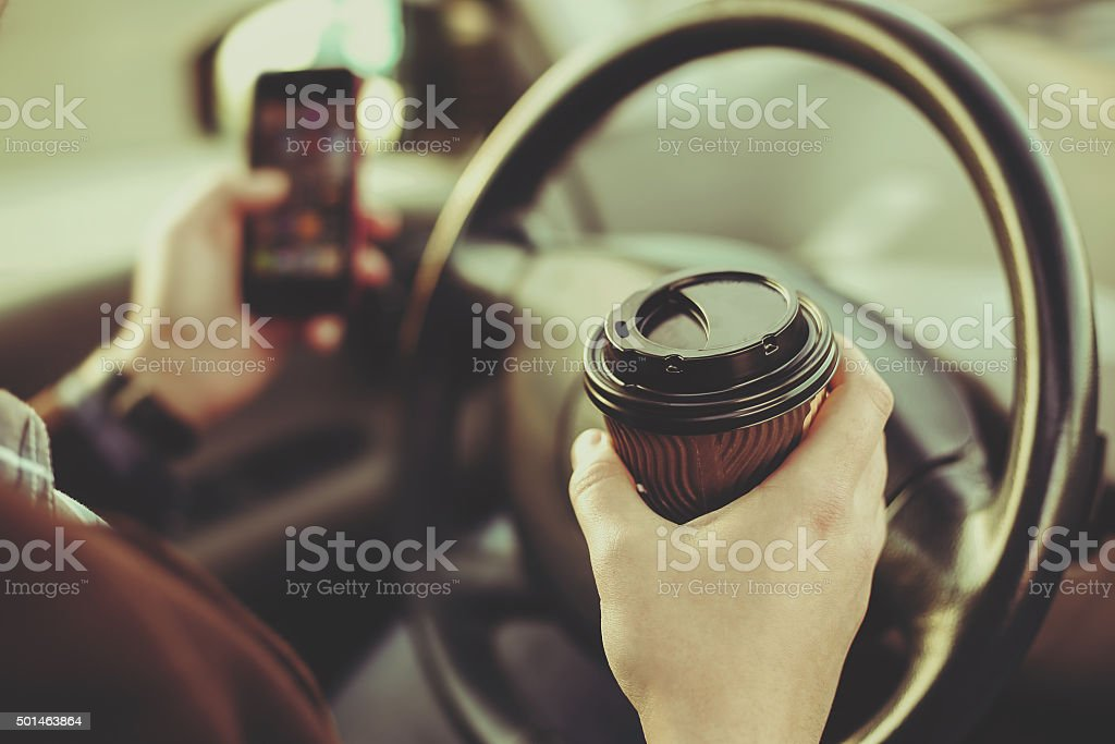 Coffee and driver stock photo
