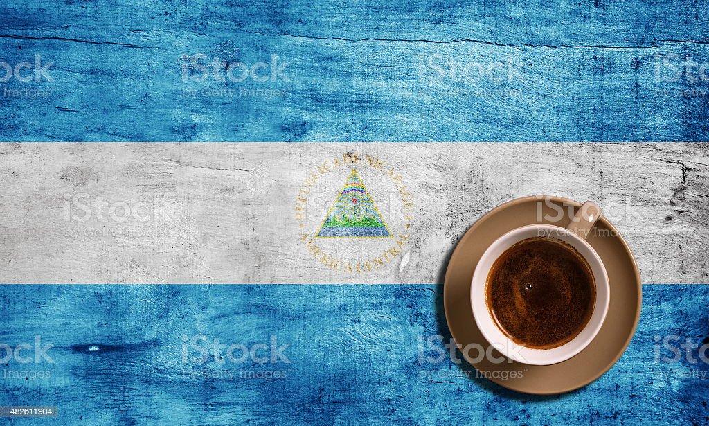 Bandera y café - foto de stock