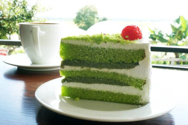 coffee and green tea cake - pandan składnik zdjęcia i obrazy z banku zdjęć