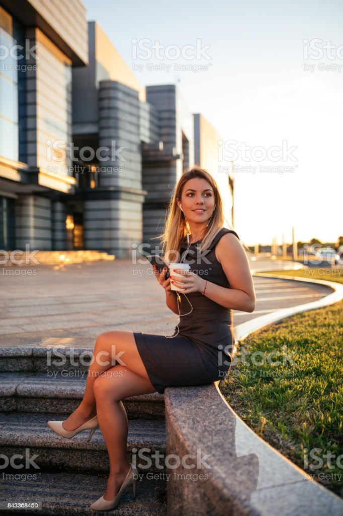 Coffee and internet stock photo