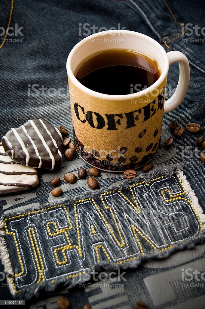 Coffee and Jeans royalty-free stock photo