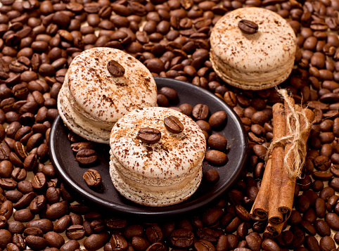 Coffee And Macaroons Stock Photo - Download Image Now