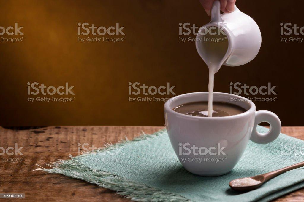 Café com leite - foto de acervo