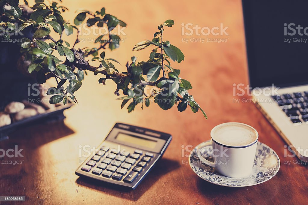 Coffee and numbers royalty-free stock photo