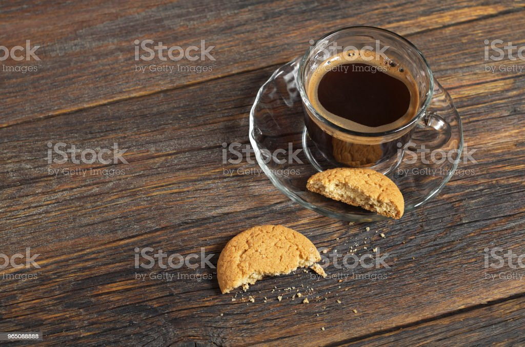 Coffee and oatmeal cookies zbiór zdjęć royalty-free
