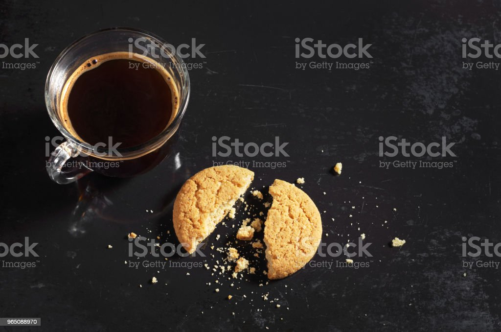 Coffee and oatmeal cookies royalty-free stock photo