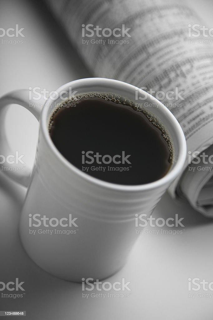 coffee and paper royalty-free stock photo