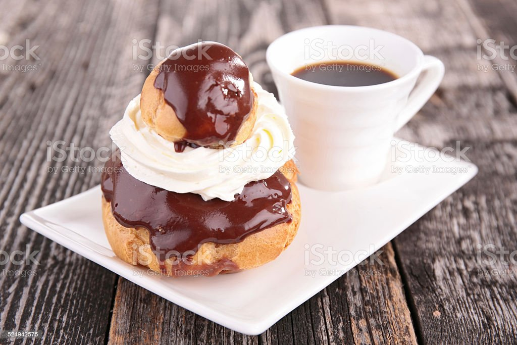 coffee and pastry stock photo