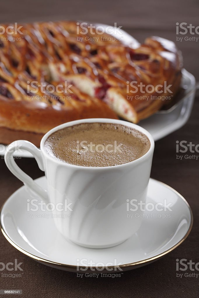 Coffee and pie royalty-free stock photo