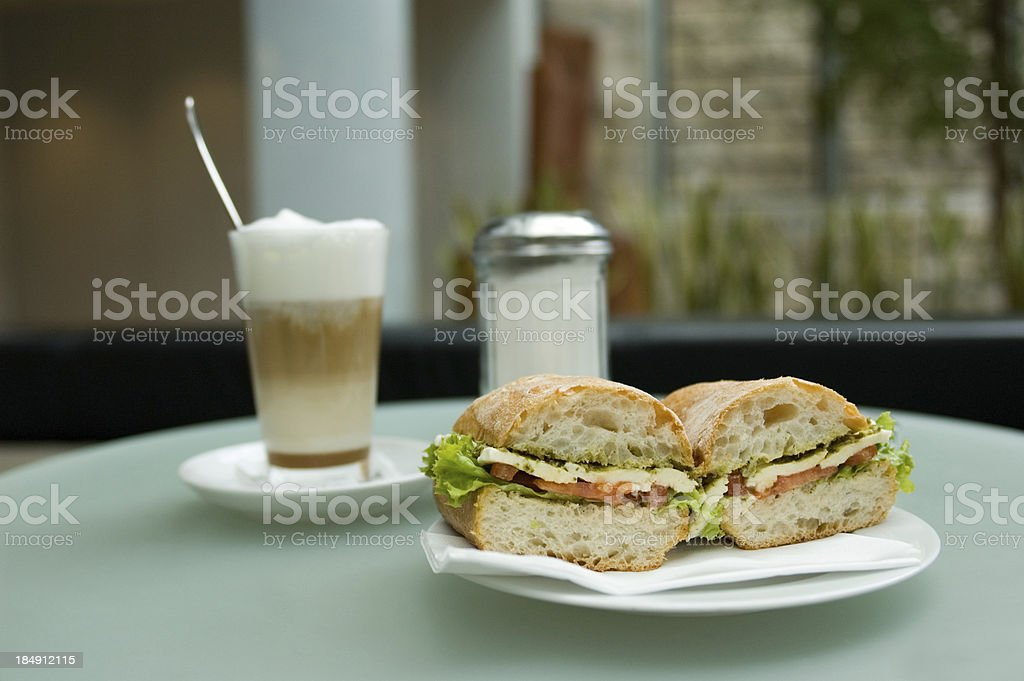 Coffee and Sandwich royalty-free stock photo